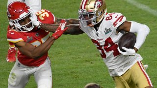 Kendrick Bourne #84 of the San Francisco 49ers