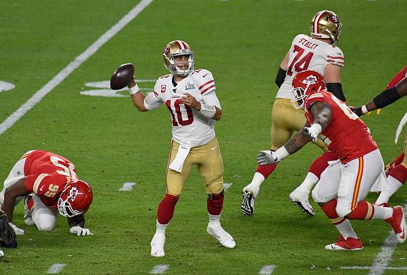 Jimmy Garoppolo #10 of the San Francisco 49ers