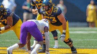 West Virginia Mountaineers offensive lineman Colton McKivitz