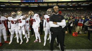 Defensive Coordinator Robert Saleh of the San Francisco 49ers