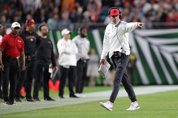Head coach Kyle Shanahan of the San Francisco 49ers