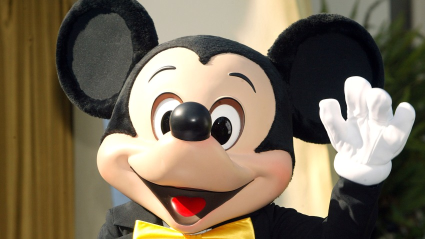 A file photo of Mickey Mouse waving on November 16, 2004 in Pasadena, California.
