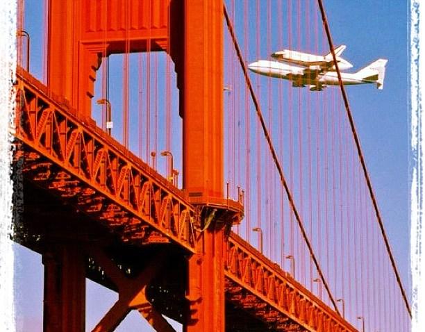 [ggb] Space shuttle. #sanfrancisco #spaceshuttle #sf #goldengatebridge #ggb #picoftheday #goldengate #bridge #shuttle