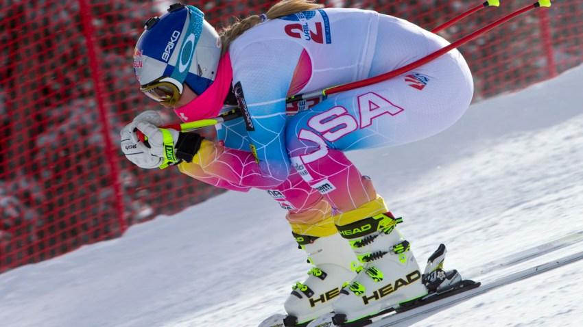 Vonn Crashes Skiing