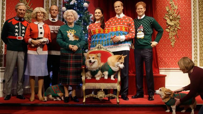APTOPIX Britain Royals Christmas Jumpers