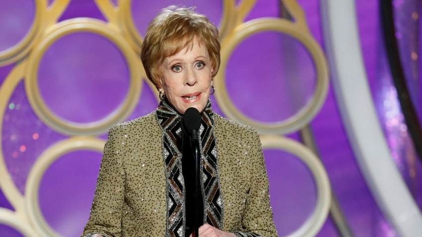 In this Jan. 6, 2019, file photo, Carol Burnett accepts the inaugural Carol Burnett TV Achievement Award during the 76th Annual Golden Globe Awards at the Beverly Hilton Hotel in Beverly Hills, Calif.