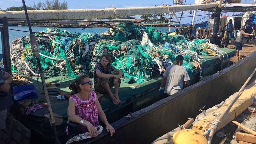 Pacific Ocean Floating Trash