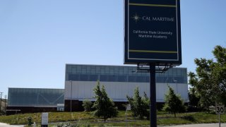 The California Maritime State University Academy is seen on Tuesday, April 28, 2020, in Vallejo, Calif.