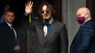 In this July 8, 2020, file photo, Johnny Depp arrives at the High Court in London, United Kingdom.