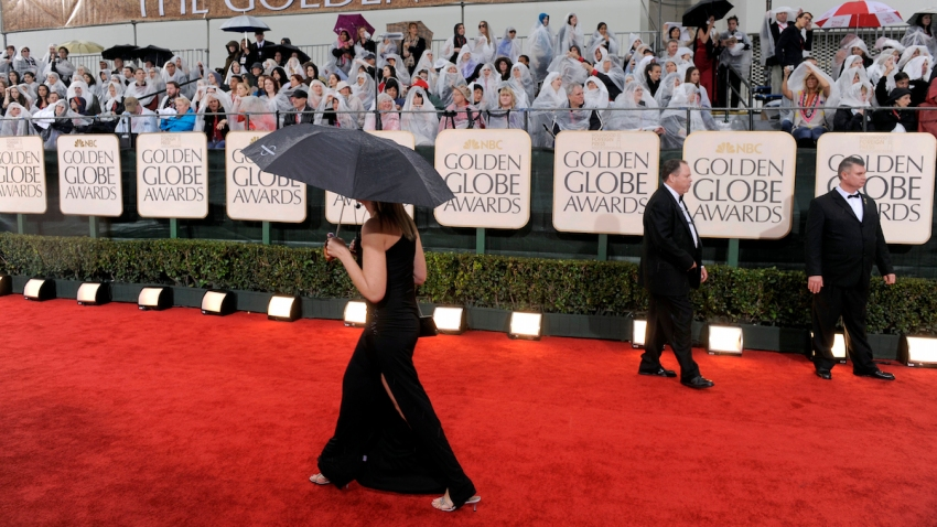 Golden Globes-Rainy Red Carpets