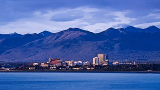 In this June 18, 2009, file photo, the skyline of Anchorage in seen from afar.