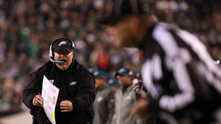 Andy Reid Screams at Ref