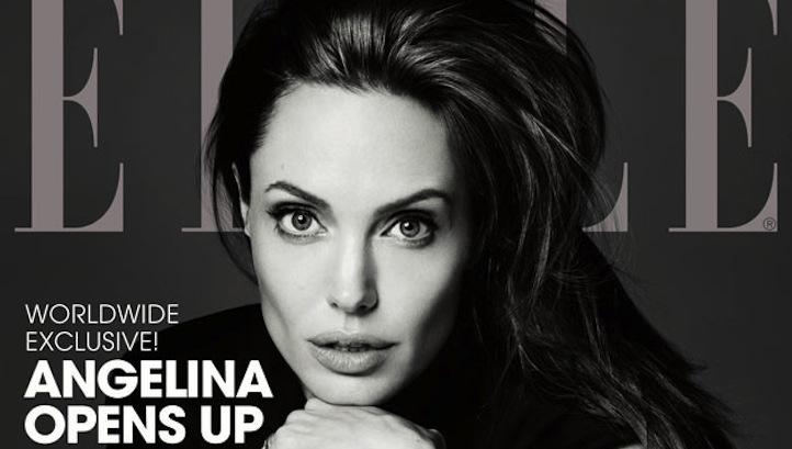 Angelina Jolie Elle cover