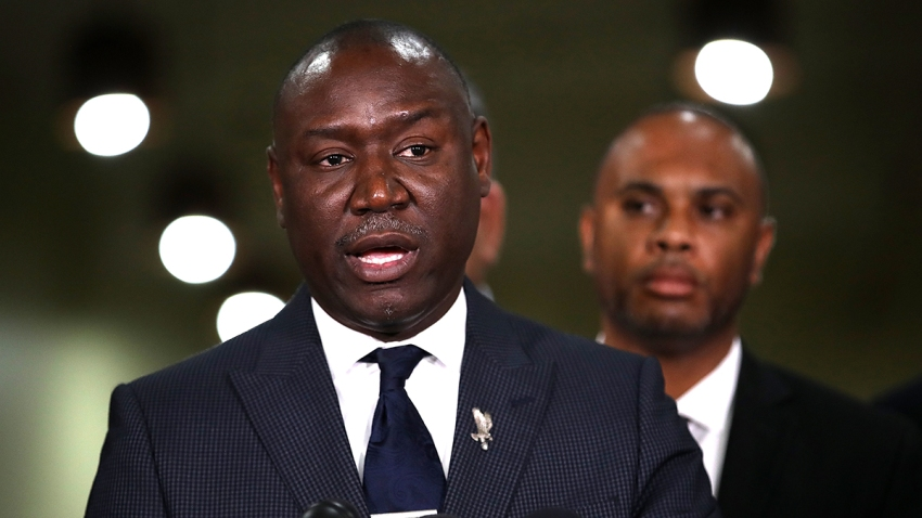 FILE - Attorney Ben Crump speaks as a member of the legal team for the family of Stephon Clark, who was shot and killed by Sacramento police, at a news conference at the Southside Christian Center on March 30, 2018, in Sacramento, California.
