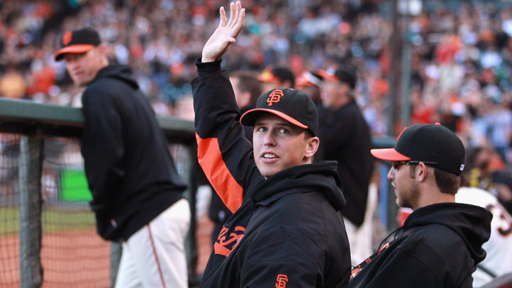 Buster_Posey_Spring_Training_Back_to_Back_Games_Catching