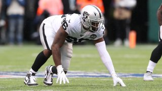 Oakland Raiders defensive end Clelin Ferrell