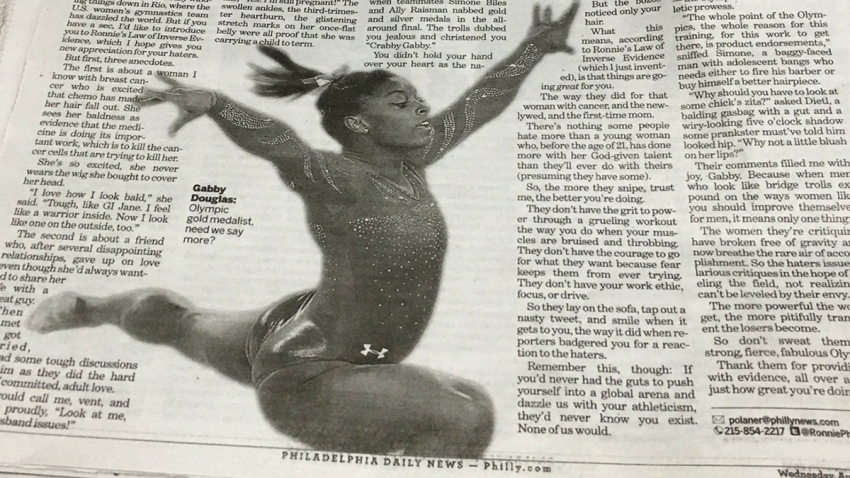 Daily News Biles Douglas Photo Screwup cp