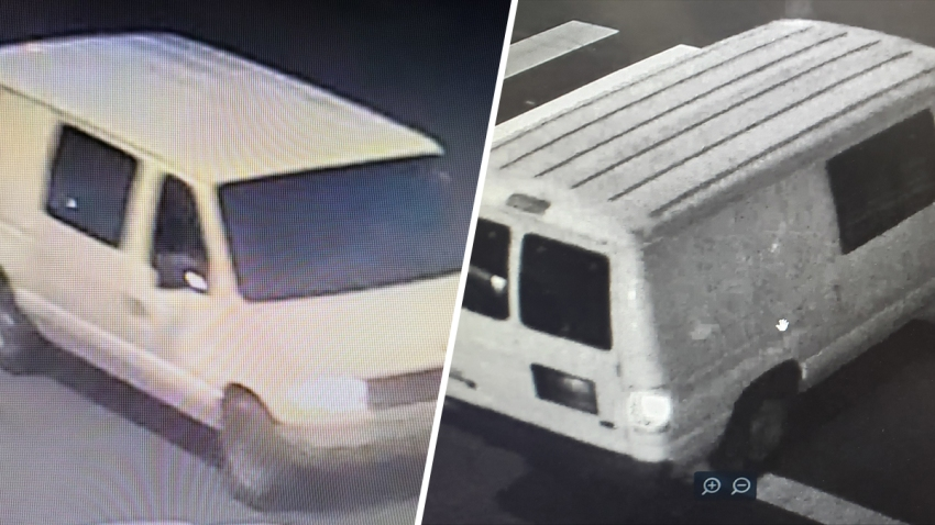Photos of a van believed to be used during a May 29 shooting that killed one federal officer and wounded another in downtown Oakland.