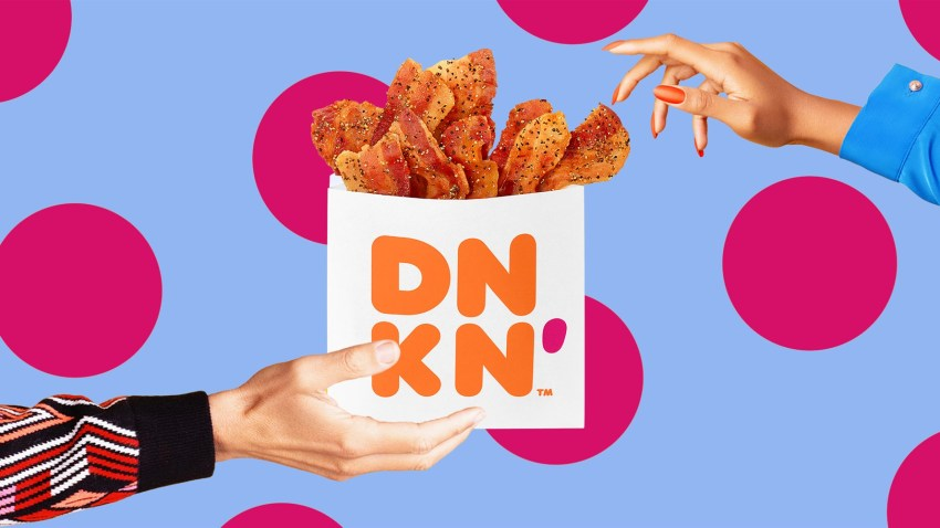 """Dunkin' releases its new """"Snackin' Bacon"""" menu item."""