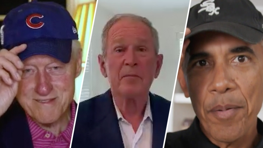 Former Presidents Bill Clinton, George W. Bush and Barack Obama.