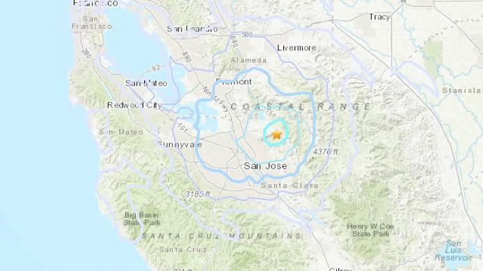 3 6 Magnitude Earthquake Strikes Near San Jose Milpitas Nbc Bay Area