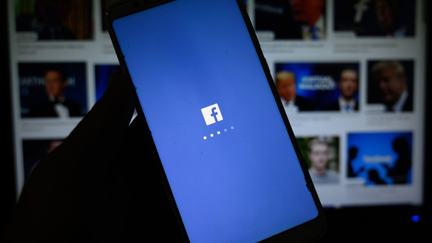 In this illustration photo, the logo of 'Facebook' is displayed on a smartphone in Tehatta, Nadia, West Bengal; India, on June 4, 2020.