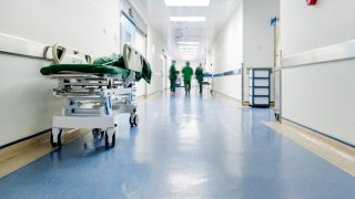 Generic Medical Health Medicine Hospital Hall Stretcher Shutterstock