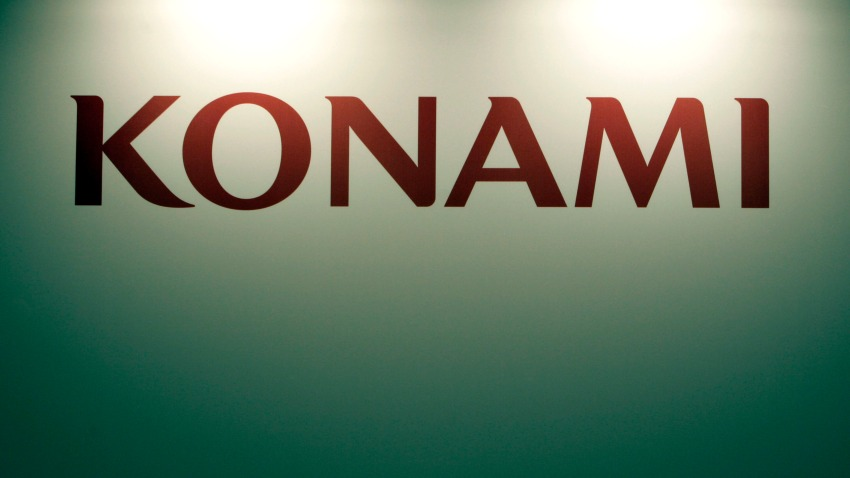 A Konami Corp. logo is seen at the Gamescom trade fair in Cologne, Germany, on Thursday, Aug. 19, 2010. Sony Corp. and Microsoft Corp. are introducting motion-activated products this year for their respective PlayStation 3 and Xbox 360 video game consoles to compete with Nintendo Co.'s industry-leading Wii gaming console. Photographer: Ralph Orlowski/Bloomberg via Getty Images