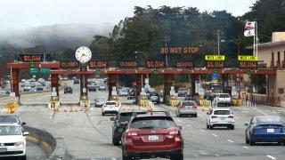 Toll bridge in San Francisco Bay Area.