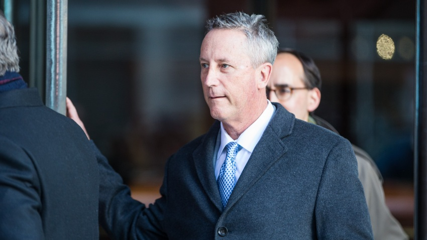 BOSTON, MA - MARCH 25: Martin Fox, president of a private tennis academy in Houston, leaves following his arraignment at Boston Federal Court on March 25, 2019 in Boston, Massachusetts. A dozen coaches, athletic directors and test proctors are being arraigned in relation to the college admissions scandal on Monday.