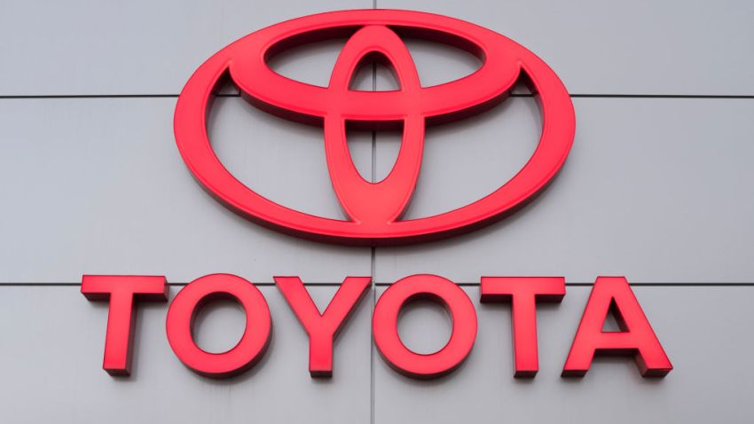 A Toyota logo is seen at a car dealership in San Jose, California, on Nov. 19, 2019.