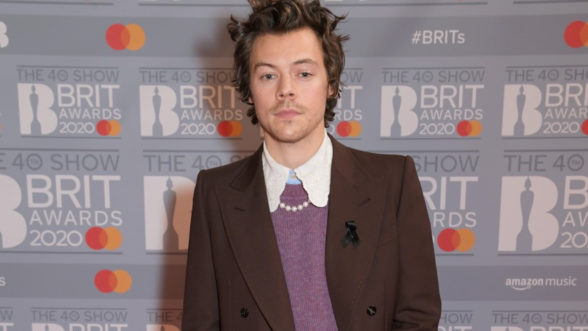 Harry Styles attends The BRIT Awards 2020 at The O2 Arena on Feb. 18, 2020, in London, England.