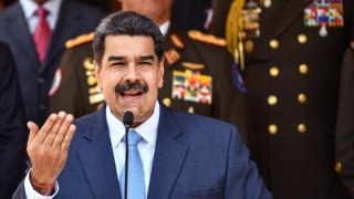 President of Venezuela Nicolas Maduro speaks during a press conference at Miraflores Government Palace on March 12, 2020 in Caracas, Venezuela.
