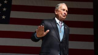 Democratic Presidential Candidate Mike Bloomberg Campaigns Ahead Of Super Tuesday