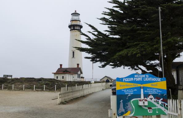Pigeon Point Light Station near Half Moon Bay in California