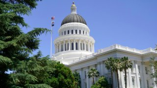 The Capitol Building in downtown Sacramento.
