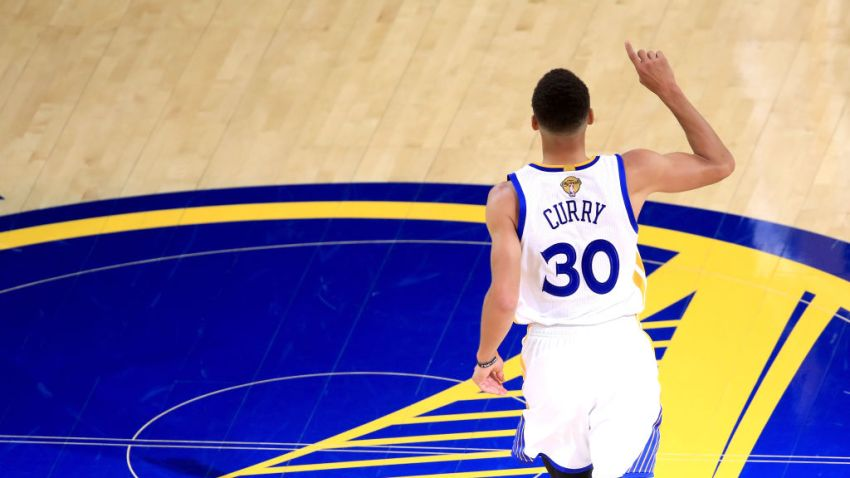 Steph Curry Reacts After Game 1 Victory in NBA Finals