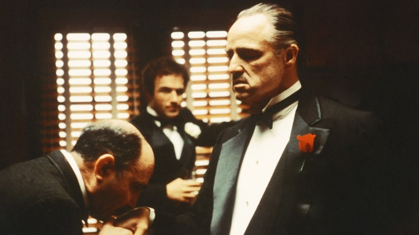 "A scene from ""The Godfather"""