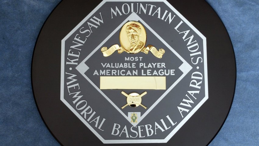 The Kenesaw Mountain Landis Memorial Baseball Award presented to the American League Most Valubale Player photographed at the Major League Baseball offices on November 8, 2006 in New York, New York.