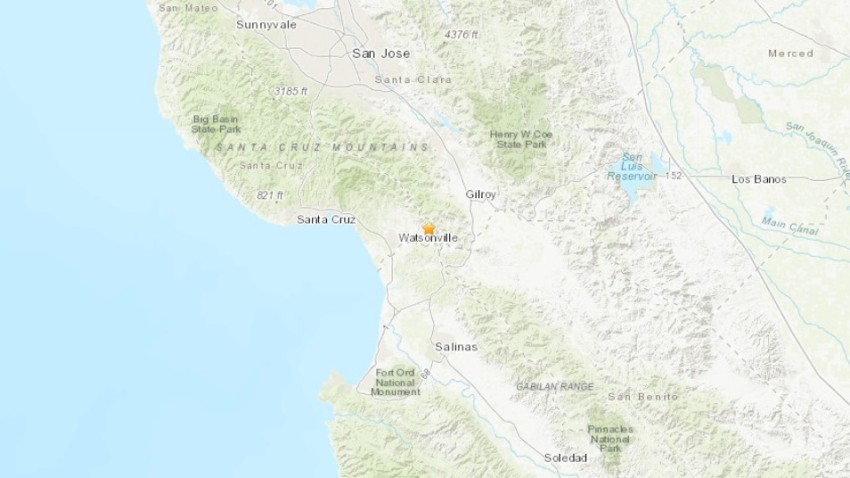 A map shows the epicenter of a 3.3 magnitude earthquake.