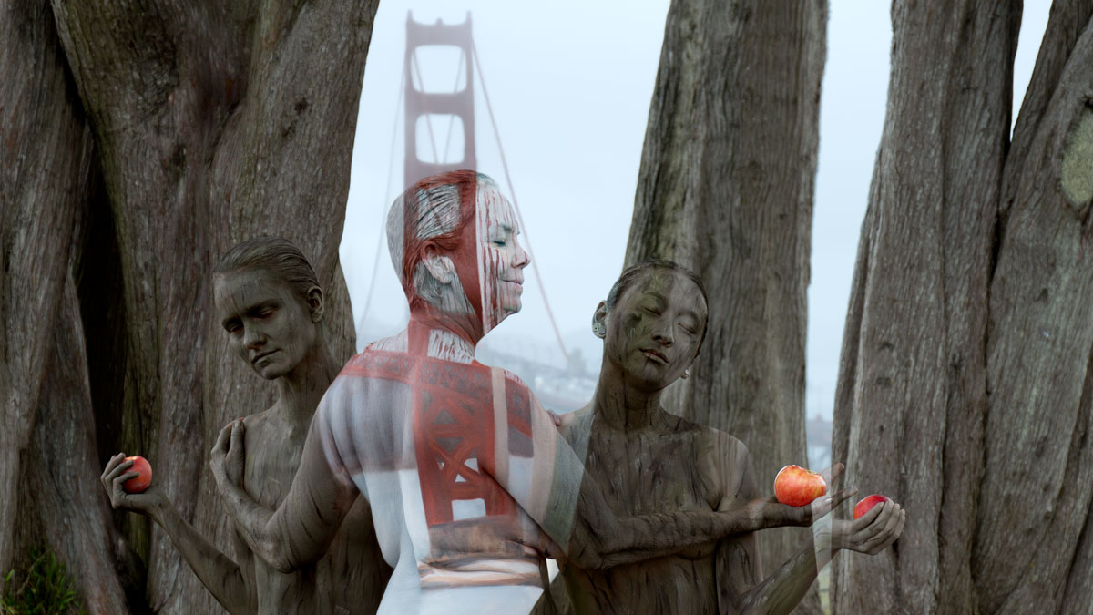 Body Painter Makes Her Models Disappear Into Landmarks Nbc Bay Area