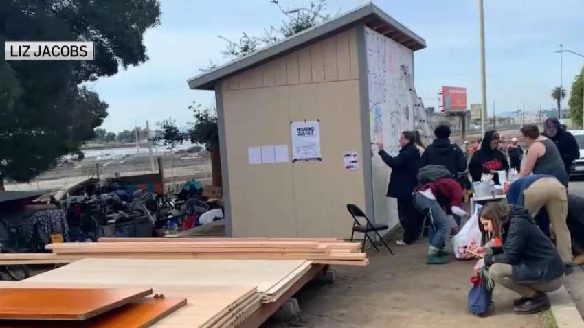 Group Builds Temporary Homes on Oakland Street