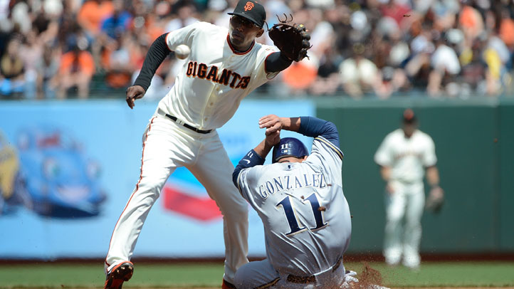 Joaquin_Arias_Third_Base_Conor_Gillispie_Giants_Dodgers_Freddy_Sanchez