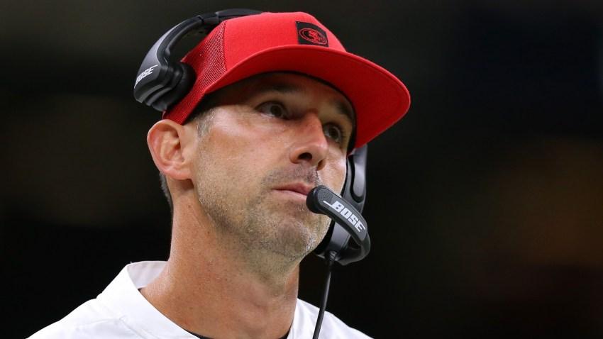 Head coach Kyle Shanahan of the San Francisco 49ers.