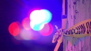 Police tape near the stabbing scene on North Mascher Street
