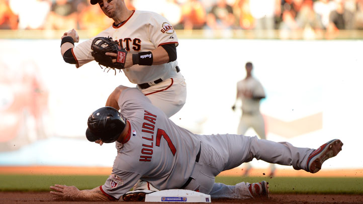 Matt_Holliday_Dirty_Slide_Marco_Scutaro_Giants_Cardinals_Video