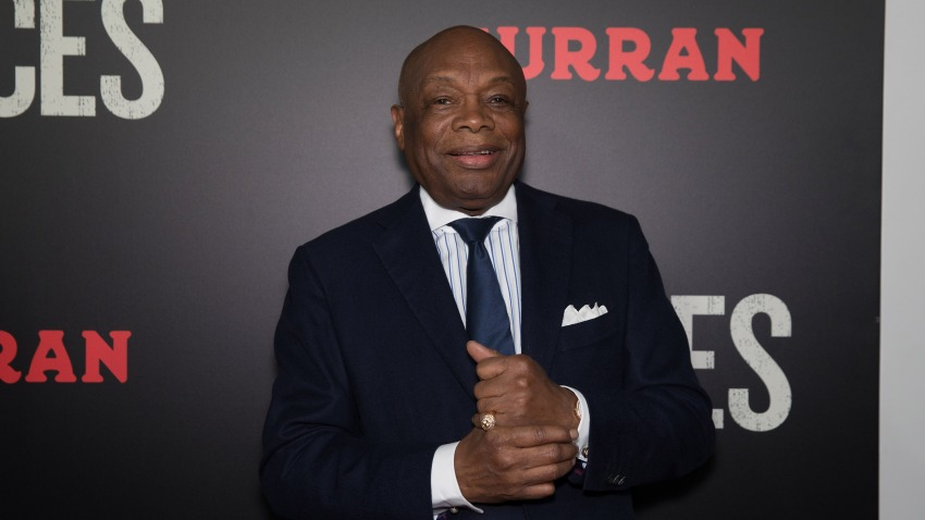 "In this Dec. 15, 2016, file photo, former San Francisco Mayor Willie Brown arrives at the Premiere of ""Fences"" at Curran Theatre in San Francisco, California."