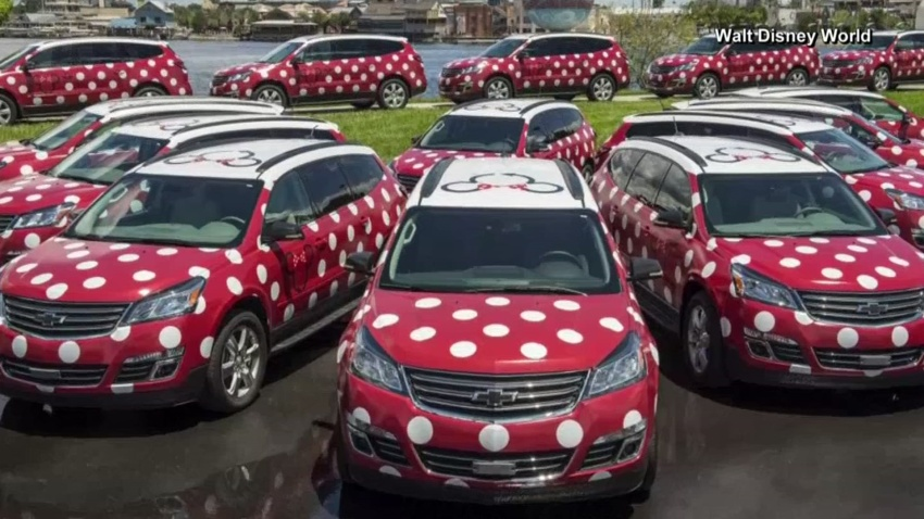 Minnie Vans at Disney World with Lyft