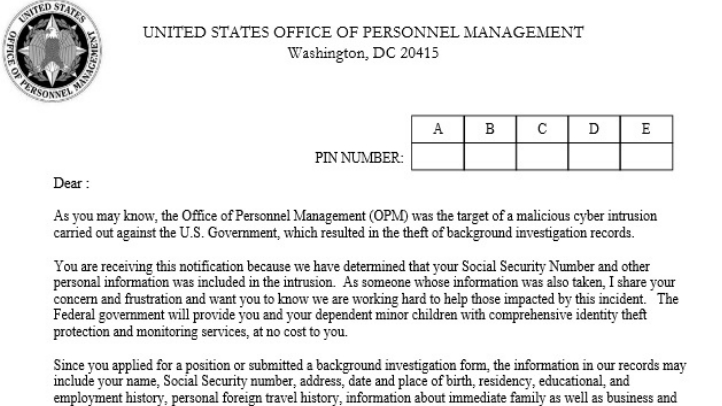 OPM Letter