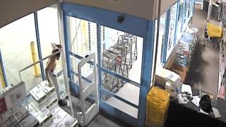 Surveillance video of burglary.